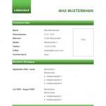 Lebenslauf-Vorlage 4 Grüne Balken