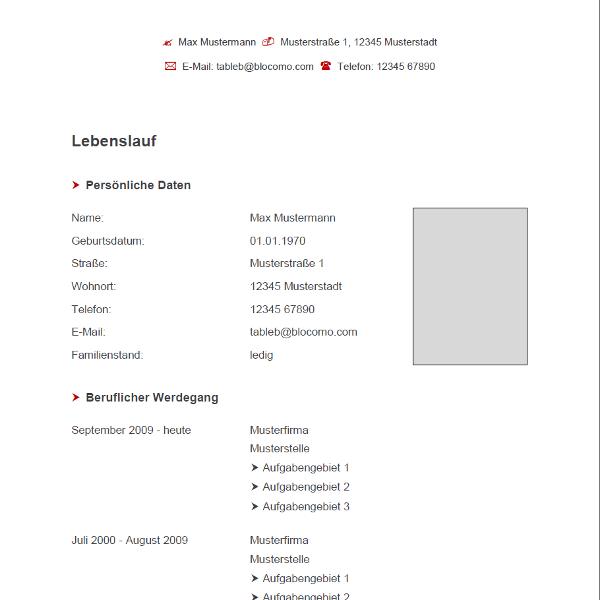 Vorlage / Muster: Vorlage Grau-Rot