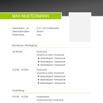 Vorlage / Muster: CV-Layout