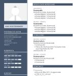 Vorlage / Muster: Lebenslauf-Layout