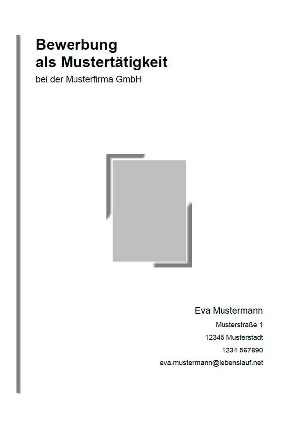 Vorlage / Muster: Bewerbungsdeckblatt