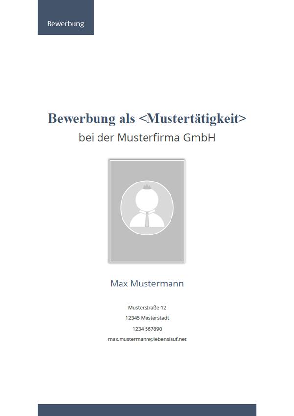 Deckblatt Bewerbung: Kostenlose Vorlagen & Muster 2018
