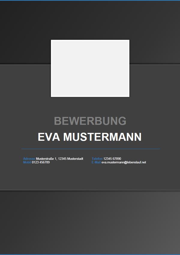 Vorlage / Muster: Deckblatt-Muster