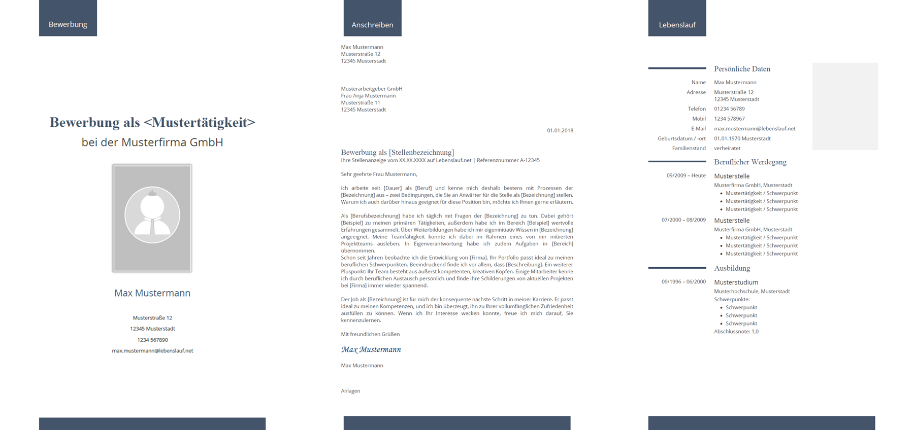 dateinamen der bewerbungsdokumente tabellarischer lebenslauf - Bewerbung Software
