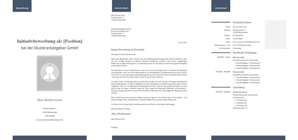 Muster / Vorlage: Initiativbewerbung 2