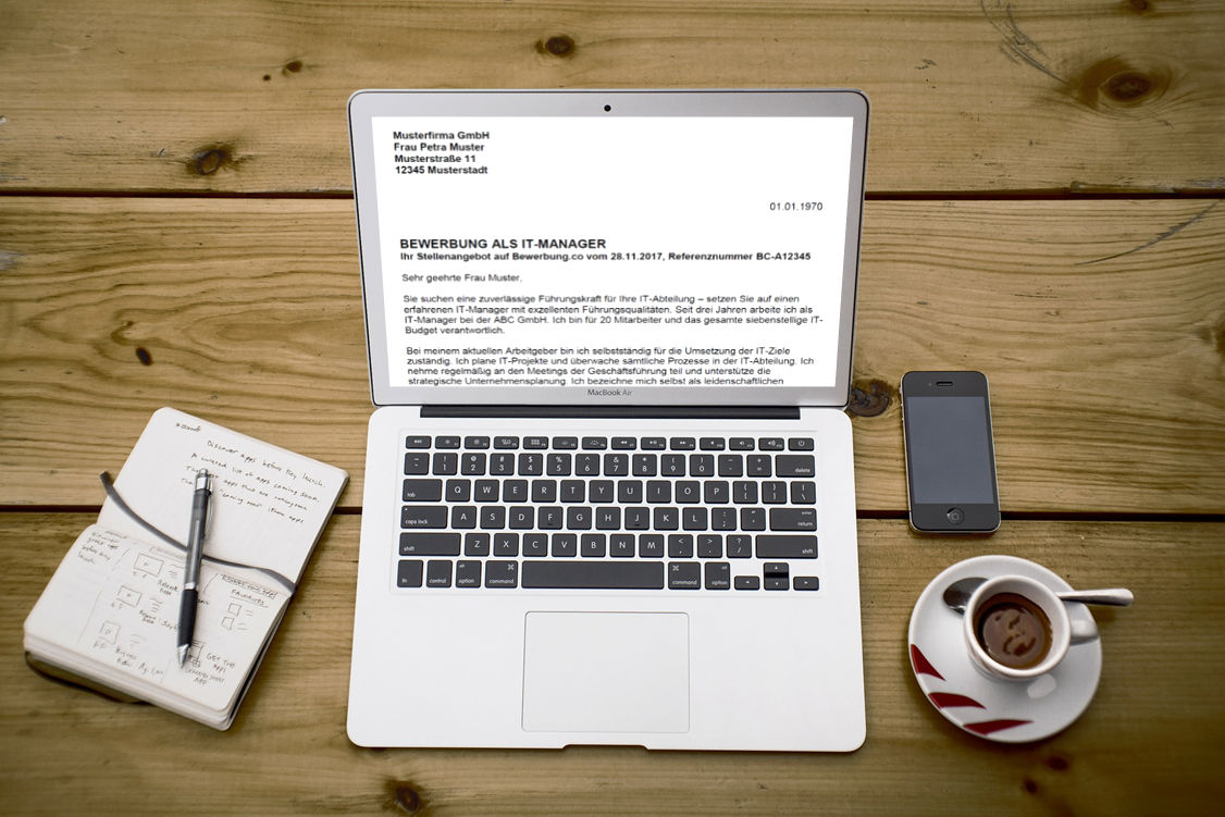 Bewerbung um einen Arbeitsplatz schreiben