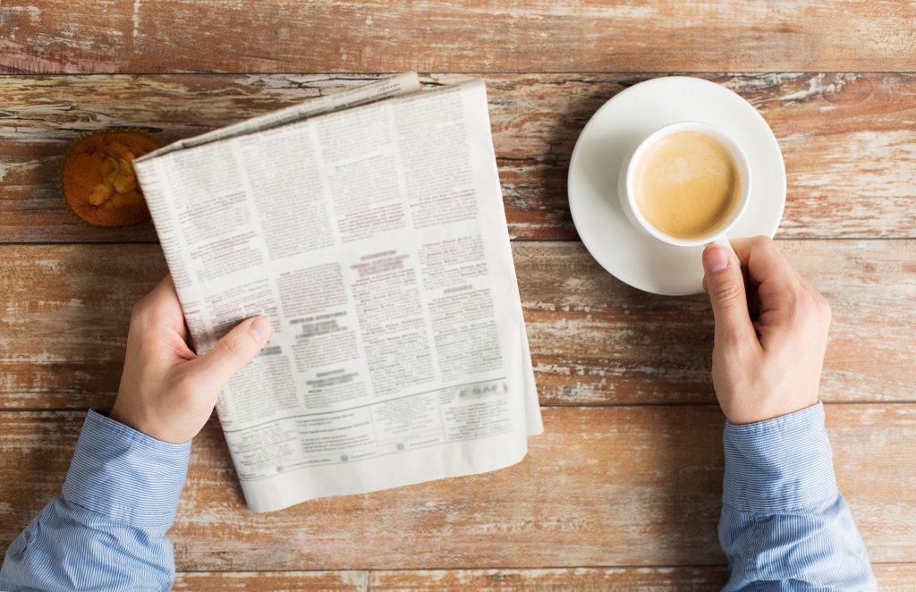 Bewerbung auf Zeitungsanzeige