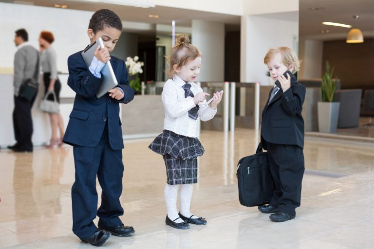 Ideale Kinder im Lebenslauf